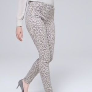 WHBM Sculpt High-Rise Skinny Ankle Jeans